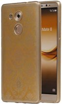 Huawei Mate 8 Hoesje TPU Paleis 3D Backcover Goud
