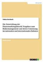 Kernbach, T: Entwicklung der Finanzmarktregulatorik. Vorgabe