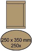 Envelop akte 250 x 350 mm zelfklevend 90 gr bruin