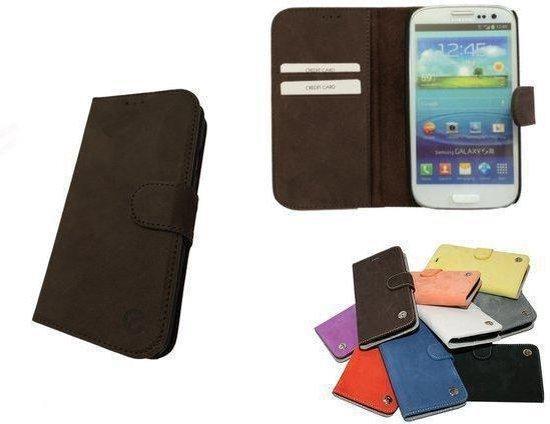e-Case Samsung Galaxy S4 Wallet Hoesje Bruin