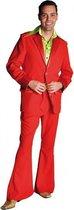 Rood seventies kostuum voor heren 60-62 (xl)