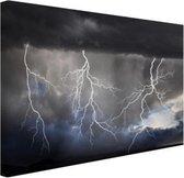 Bliksemshow Canvas 180x120 cm - Foto print op Canvas schilderij (Wanddecoratie woonkamer / slaapkamer) XXL / Groot formaat!