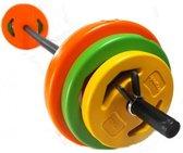 Sportbay® bodypump halterset   halterset 20 kg   Halterstang met gewichten 20 kg