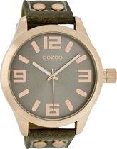 OOZOO Timepieces C1153 - Horloge - Grijs/Groen - 46 mm