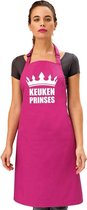 Keuken prinses keukenschort/ barbecueschort roze dames