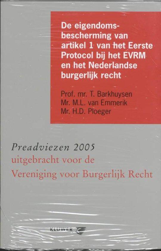 Afbeelding van De Eigendomsbescherming Van Artikel 1 Van Het Eerste Protocol Bij Het Evrm En Het Nederlandse Burgerlijk Recht