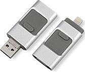 USB stick – flashdrive 128GB – voor iPhone Android en PC of Mac - Zwart