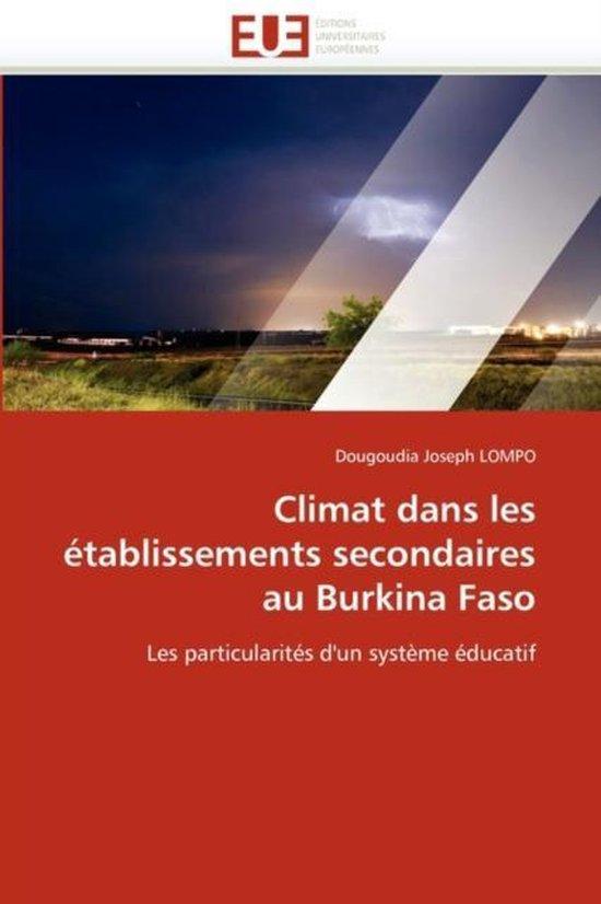 Climat Dans Les �tablissements Secondaires Au Burkina Faso