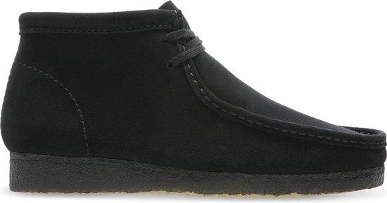 Clarks - Herenschoenen - Wallabee Boot - G - black suede - maat 6,5