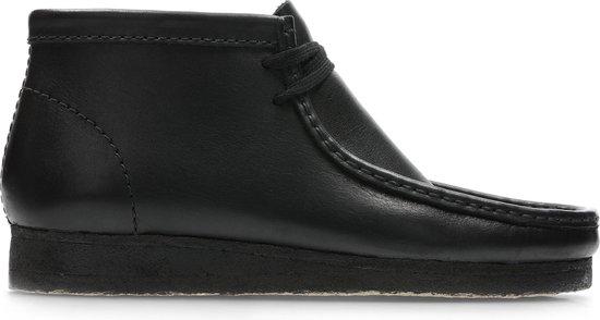 Clarks - Herenschoenen - Wallabee Boot - G - black leather - maat 10