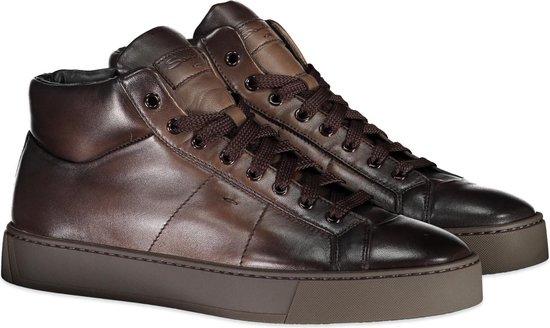 Santoni Sneaker Bruin Bruin  - Maat 40.5 - Heren - Herfst/Winter Collectie - Leer