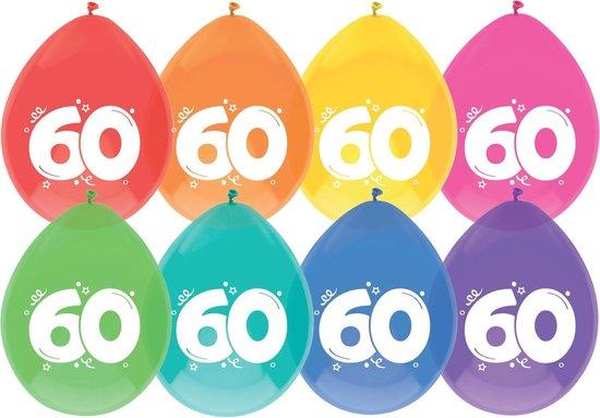 Ballonnen 60 jaar pak a 8 stuks