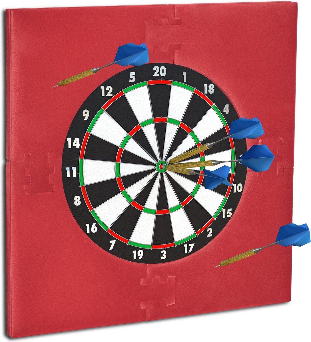 relaxdays dartbord surround ring - beschermrand - beschermring - ring voor dartbord - 45cm Bordeaux