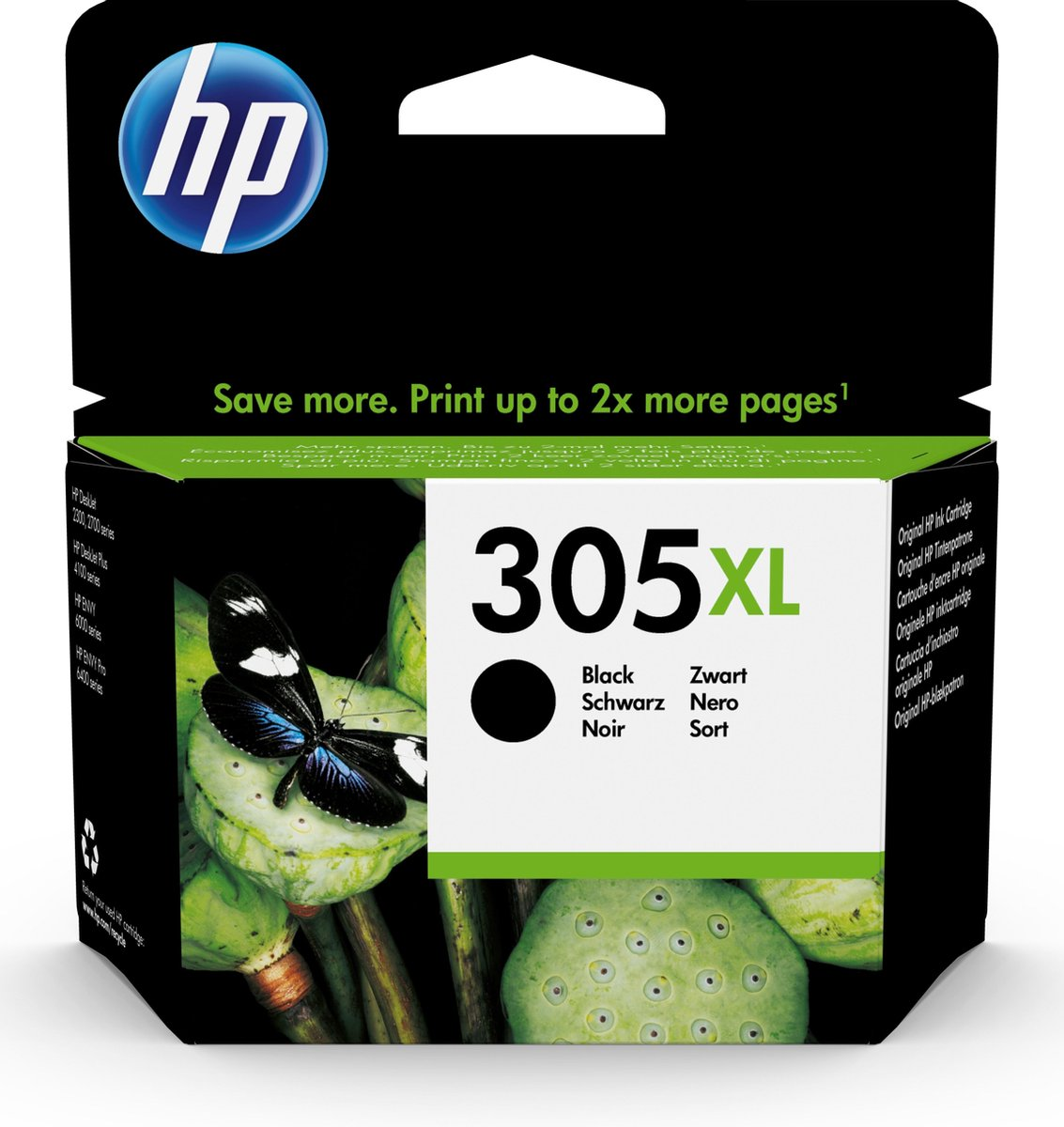 HP 305XL - High Yield Black Original Ink Cartridge - Zwart