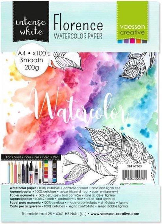 Afbeelding van A4 Aquarelblok schetsboek 100 vellen 200 grams 21 x 30 cm - Aquarel papier - Aquarelblokken/tekenblokken - Hobby/schildermateriaal