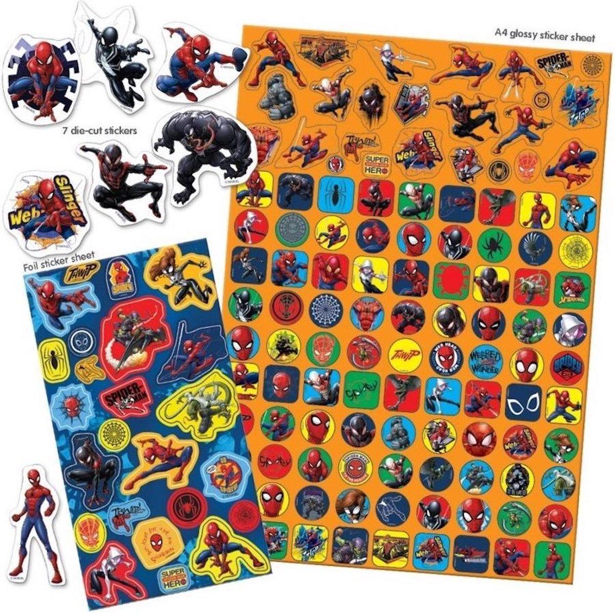 Spiderman mega sticker set