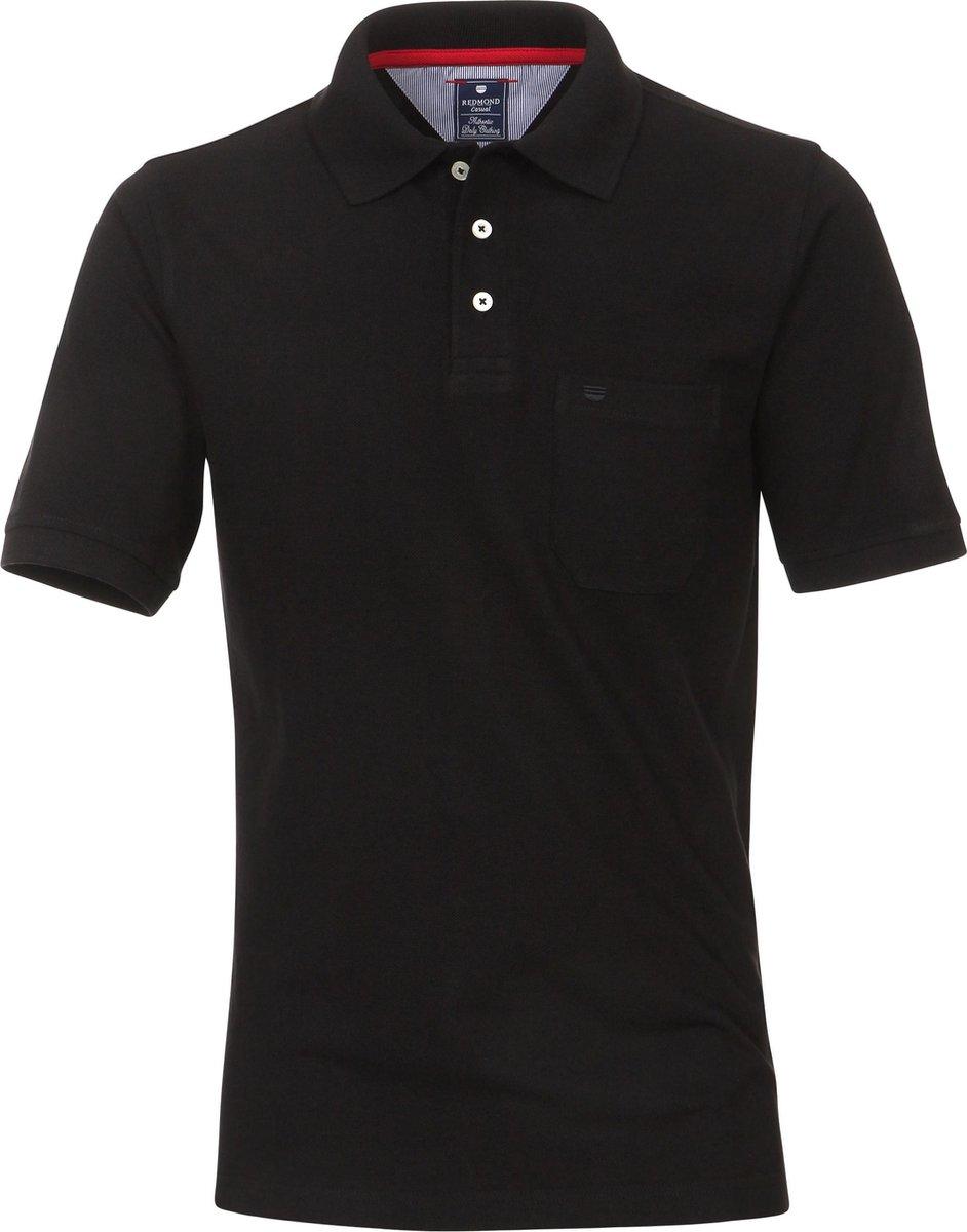 Redmond Regular Fit poloshirt - zwart -  Maat: 3XL