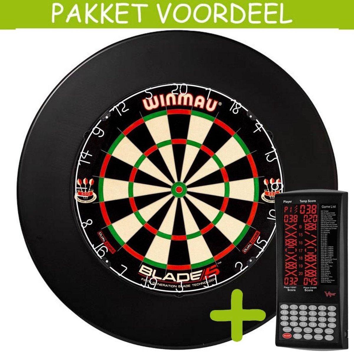 Elektronisch Dart Scorebord VoordeelPakket (Viper ) - Dual Core - Rubberen Surround (Zwart)