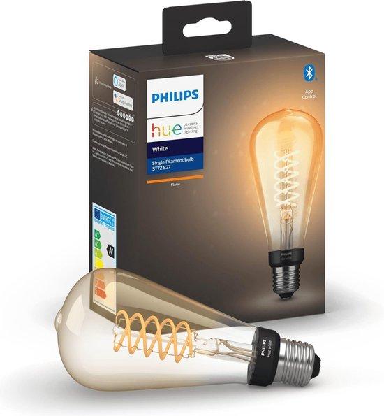 Philips Hue Filament Lichtbron E27 ST72 Edison - White - Ø 7,2 cm - 7W - Bluetooth