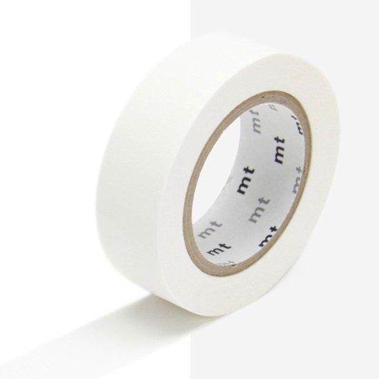 Afbeelding van MT Masking tape wit - Washi tape matte white - 10 meter x 1,5 cm. speelgoed