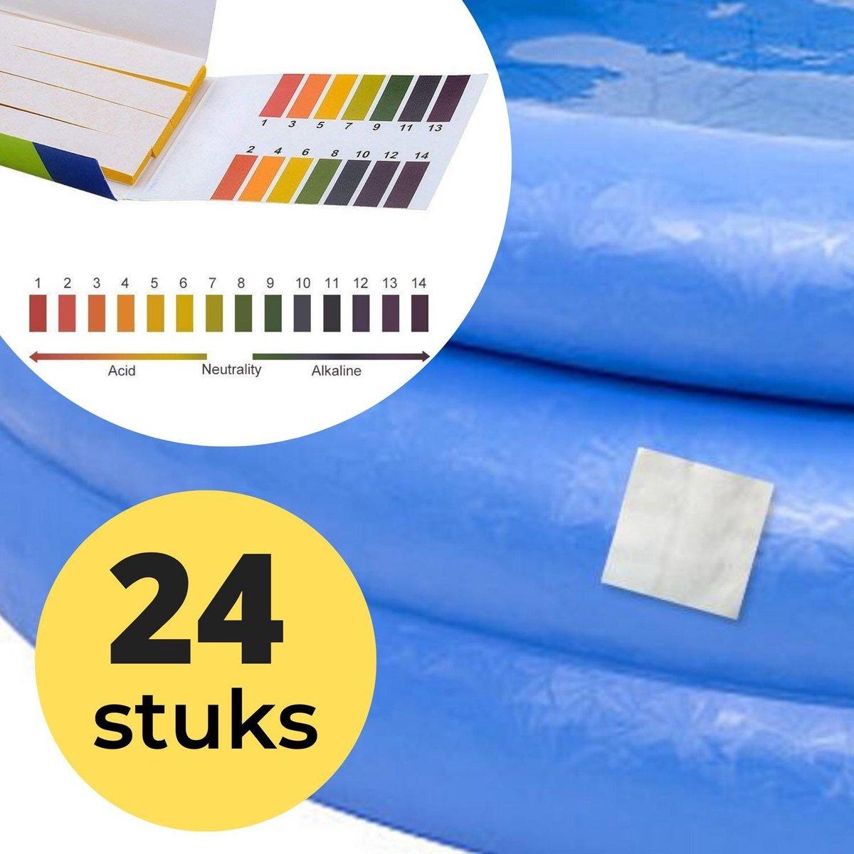 24x Zwembad Onderhoud Reparatie Set - Geschikt voor Opblaasbaar Zwembad en speelgoed met 80 PH meter strips - Pless®