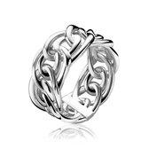ZINZI zilveren ring gourmet glad ZIR1100