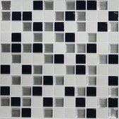 Roommates Sticktiles Mosaic 27 X 27 Cm Pvc Zwart/wit 4 Stuks