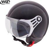 Vinz scooterhelm / Jethelm / Helm Zwart - Medium