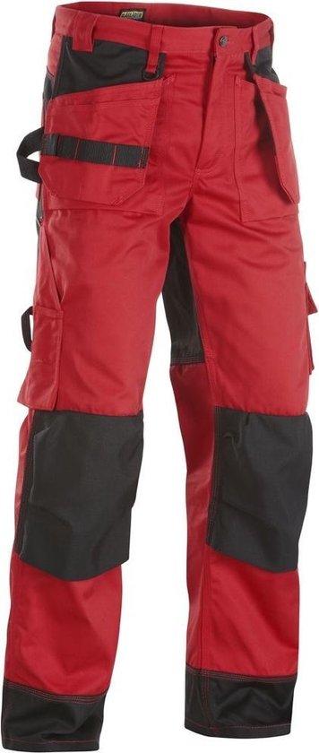 Blaklader Werkbroeken met kniestukken Rood/ZwartNL:60 BE:54