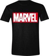 Marvel - Logo Mannen T-Shirt - Zwart - M