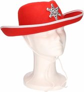 Kinder cowboyhoed rood/wit