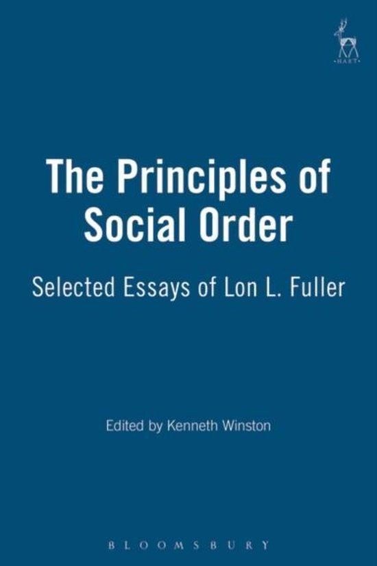 Boek cover The Principles of Social Order van Lon L. Fuller (Paperback)