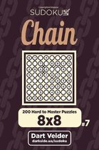 Chain Sudoku - 200 Hard to Master Puzzles 8x8 (Volume 7)