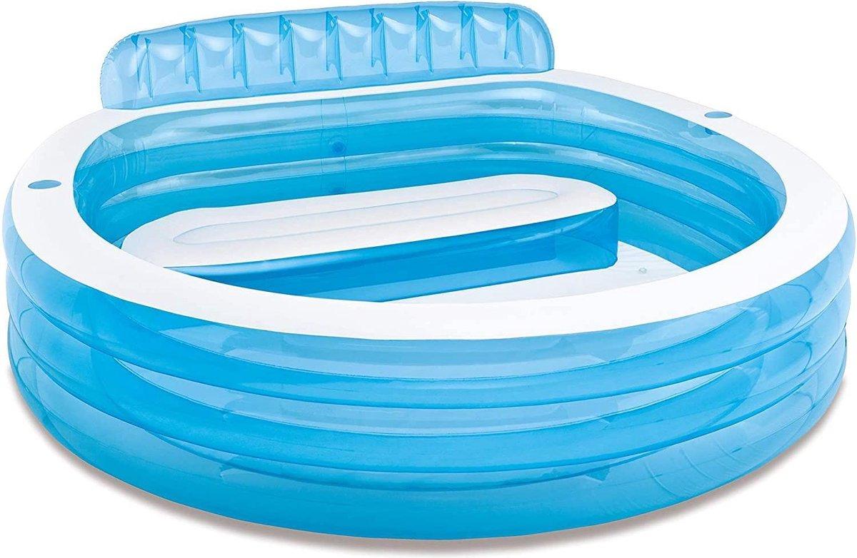 Intex 57190NP Opblaasbaar zwembad voor hele gezin, 229 x 218 x 76 cm