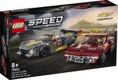LEGO Speed Champions Chevrolet Corvette C8.R Racewagen en 1968 Chevrolet Corvette - 76903
