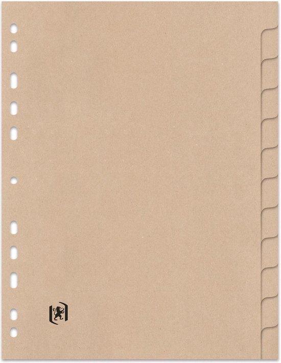 Oxford Touareg - kartonnen tabbladen - A4 - 12 tabs - onbedrukt - 11 gaats - naturel - Oxford