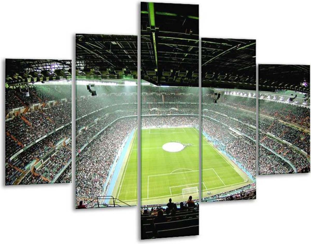 Glasschilderij Stadion   Groen   100x70cm 5Luik   Foto print op Glas    F006108