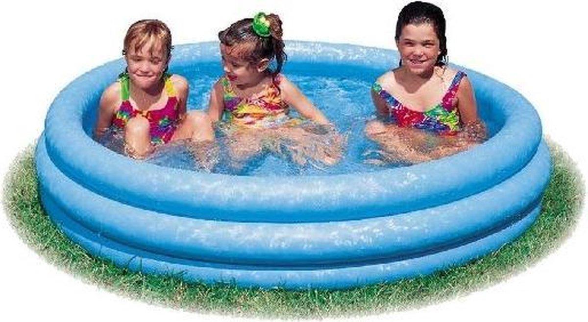Intex Opblaasbaar Zwembad Crystal - 3 Rings - 147 cm - Opblaaszwembad