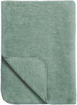 Meyco Uni wiegdeken - 75x100 cm - Stone green