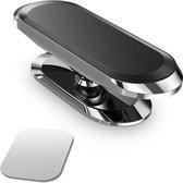 Sony Xperia XA1 Ultra Magneethouder - Auto houder - Telefoonhouder - 360 draaibaar - Magneetstrip - Magneet telefoonhouder auto - sticker - Zilver - LuxeBass