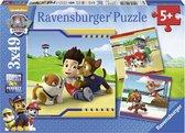 Ravensburger puzzel PAW Patrol: Helden met vacht - 3x49 stukjes - kinderpuzzel