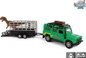 Kids Globe Auto pb Land Rover met dino-trailer: 29 cm