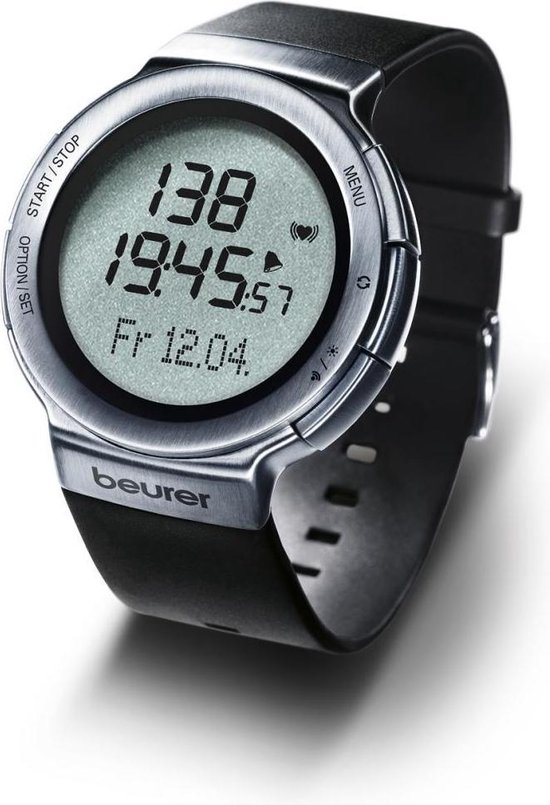 Beurer PM80 - Hartslaghorloge met borstband - USB data-overdracht - Sporthorloge - Beurer