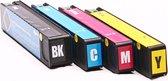 Set 4x huismerk inkt cartridge voor HP 913A voor HP Pagewide Pro 352 Series 352dw 377 377dw 452 452dn 452dw 477 477dn 477dw 477dwt 552dw 577dw 577z van ABC