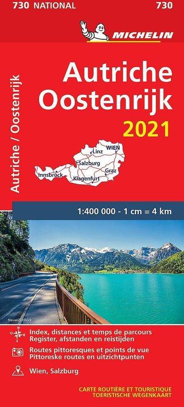 Boek cover Nationale kaarten Michelin  -   Michelin 730 Oostenrijk 2021 van  (Onbekend)