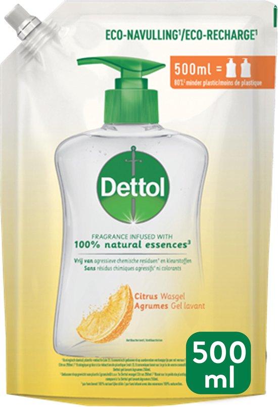 Dettol Handzeep Navulling - Antibacterieel - Citrus - 100% natuurlijke oliën - 2 x 500 ml