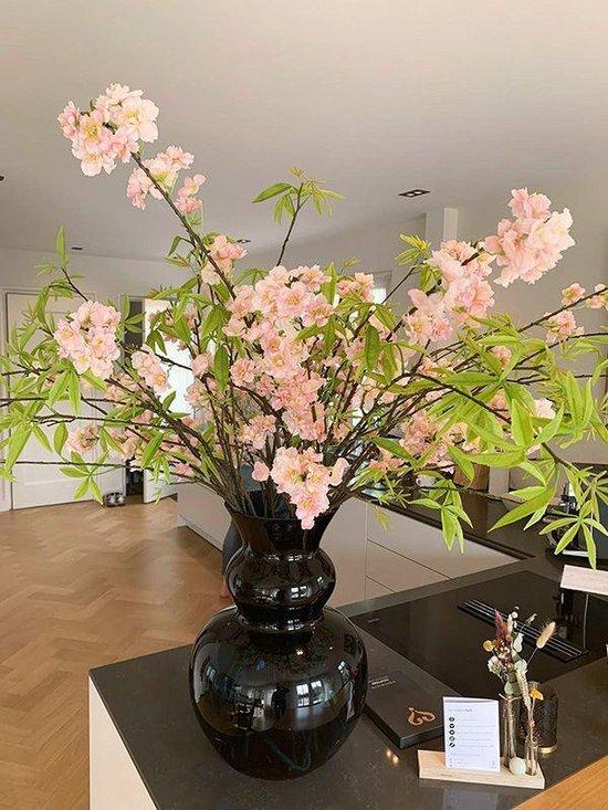 Bloesem kunsttak XL 125 cm roze