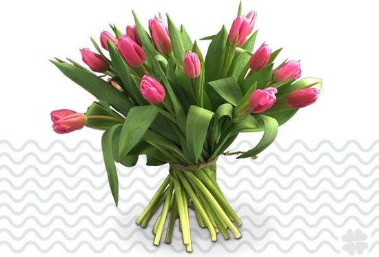 Verse bloemen boeket TULPEN - Roze - 10 stuks