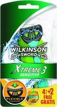 Wilkinson Sword Xtreme 3 Sensitive - 6 stuks - Scheermesjes