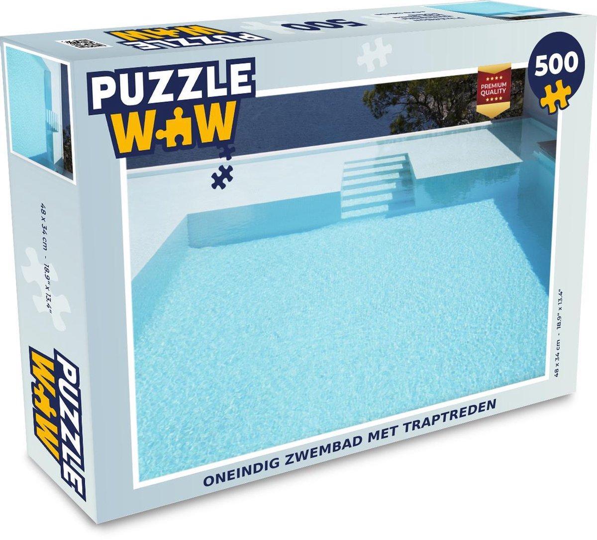 Puzzel 500 stukjes Zwembad zonder einde - Oneindig zwembad met traptreden puzzel 500 stukjes - PuzzleWow heeft +100000 puzzels
